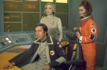 John, Helena and Maya in the Moonbase Alpha Command Centre