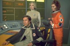 John, Helena and Maya in the Moonbase Alpha Command Centre