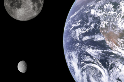 Earth Luna and Ceres