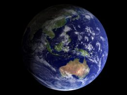 The Earth from Space, showing Asia and Australia.
