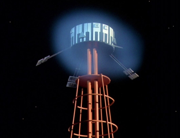 """Anti-Gravity Tower in close up from """"Black Sun"""" (season one Space: 1999)."""