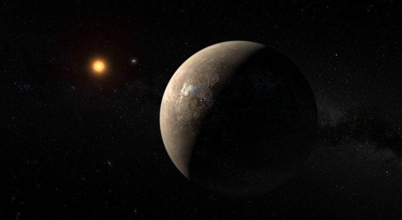 Artists Visualisation of Proxima B in Orbit of Proxima Centauri