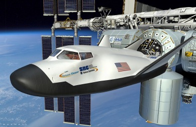 The Dream Chaser at the International Space Station.