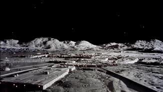 Moonbase Alpha and Moon Landscape