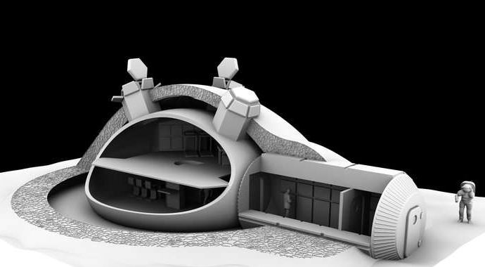 3D Printed Model of Habitat