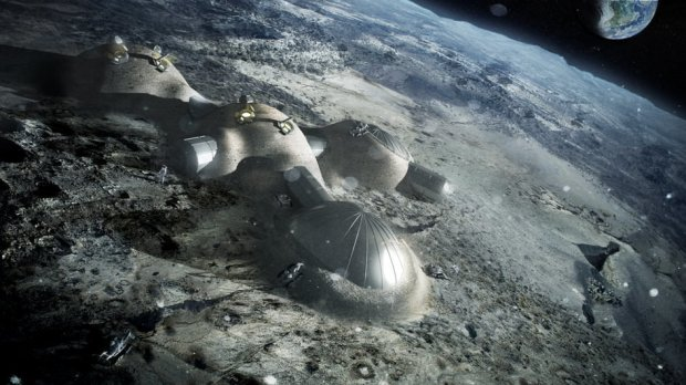 Artistis Impression of Future Lunar Base