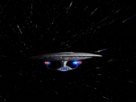 USS Enterprise D at Warp