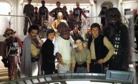 Cast Photo on the Set of Star Wars Return of the Jedi