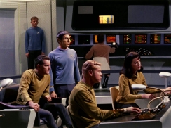On the Bridge of Christopher Pikes Enterprise