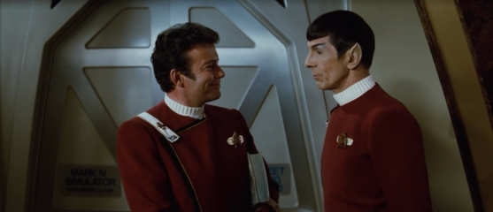 Kirk and Spock at Starfleet Academy