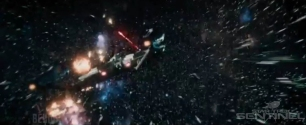 The Franklin fights its way through a swarm attack.