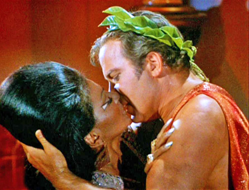 Kirk and Uhura Kiss