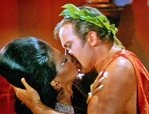 Kirk and Uhura Kiss