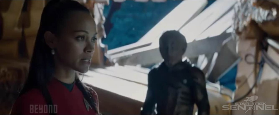 Uhura defies Krall, while prisoner on Altamid.