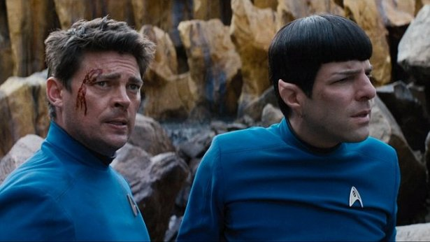 Spock and McCoy, Stranded on Altamid