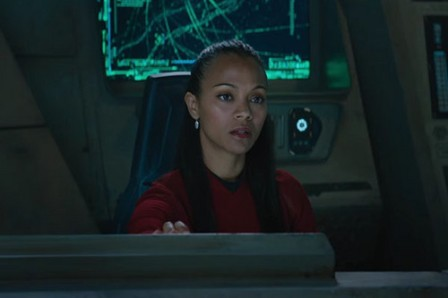 Uhura on the Franklin.