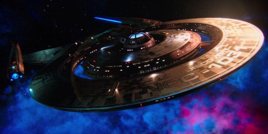 USS Discovery in Flight
