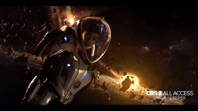 Lieutenant Commander Burnham - Environment Suit in Deep Space