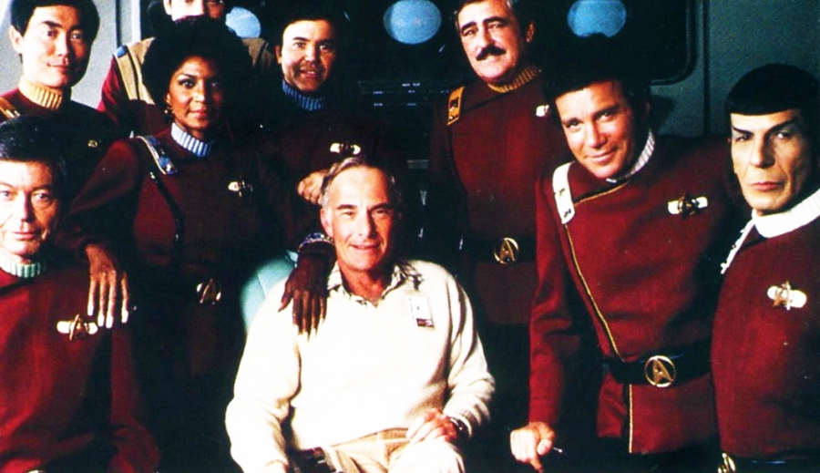Harve Bennett and the crew of the Enterprise 2