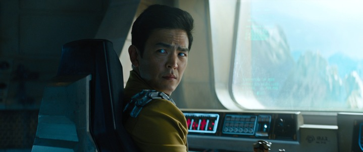 Sulu assures Kirk he can fly the USS Franklin.