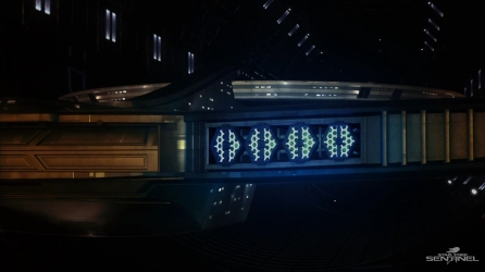 The impulse engines of the USS Discovery coming online.