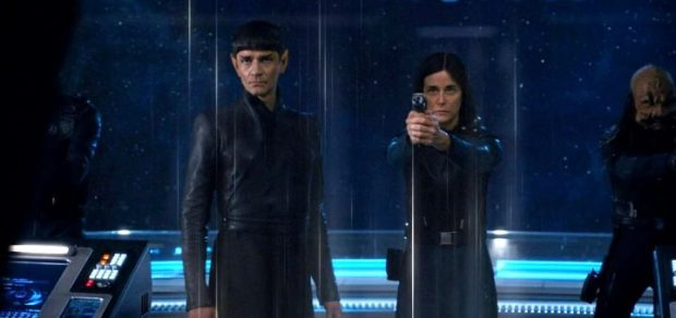Disco S1E14 Sarek and Cornwell Beam Aboard