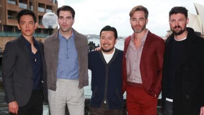 John Cho, Zachary Quinto, Justin Lin, Chris Pine and Karl Urban at the Australian Premiere of Star Trek Beyond.