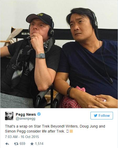 Simon Pegg - STB Wraps