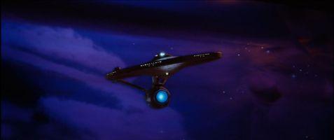 The Original Enterprise in the Mutara Nebula