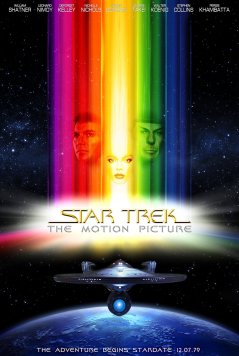 Star Trek: The Motion Picture Promotional poster featuring the names of all of the major actors in the film - in poster order William Shatner, Leonard Nimoy, DeForest Kelley, Nichelle Nichols, James Doohan, George Takei, Walter Koenig, Stephen Collins and Persis Khambatta.