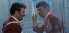 Kirk and Spock say Goodbye