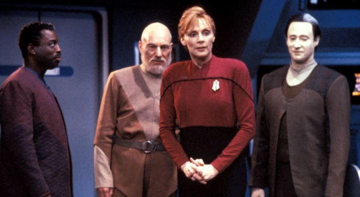 Geordi, Picard, Beverly and Data - All Good Things