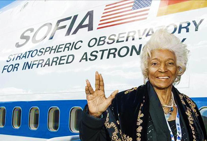 Nichelle Boarding Her NASA Mission