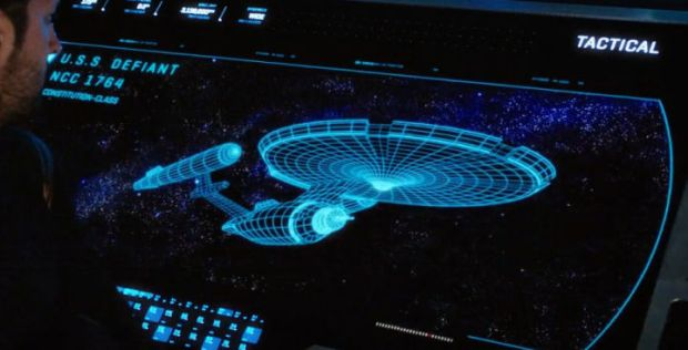 USS Defiant Wireframe Image