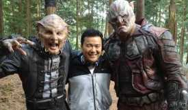 Justin Lin with Actors from Star Trek Beyond