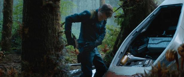 Chekov exits his escape pod on Altamid.
