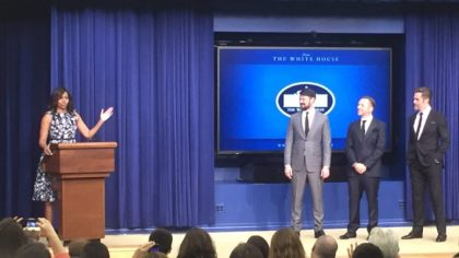 michelle-obama-karl-urban-simon-pegg-and-chris-pine-at-the-white-house