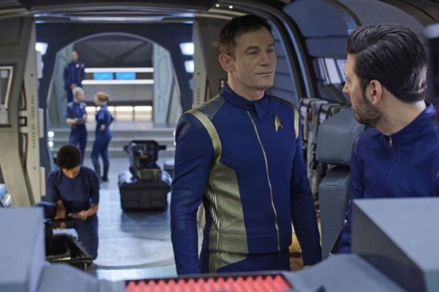 Lorca and Ash on Shuttle - Lethe