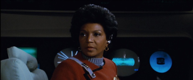 Uhura at the Communications Station