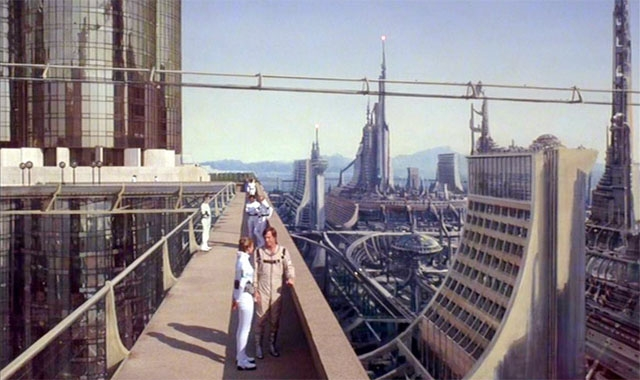Buck Rogers in the 25th Century Cityscape